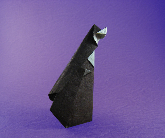 Origami Nun by Kunihiko Kasahara folded by Gilad Aharoni