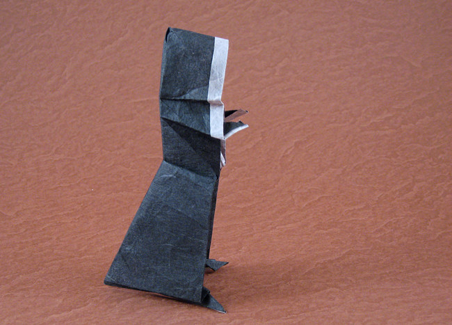 Origami Nun By Robert J Lang Folded From A Rectangle Of Duo Unryu Paper