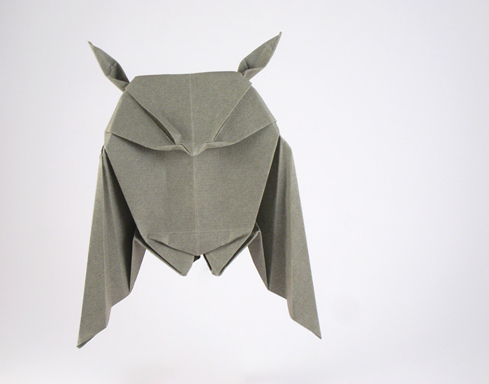 64 Square Origami Great Horned Owl By Peter Engel Folded From A Of Fabriano Art Paper