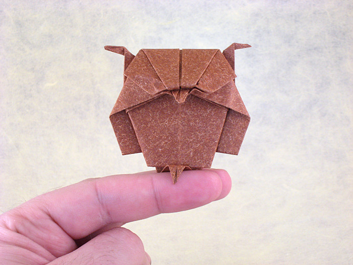 46 Square Origami Owl By Kunihiko Kasahara Folded From A Of Textured Paper Gilad Aharoni