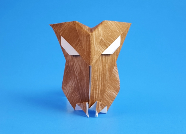 Origami Owl by Robert Neale folded by Gilad Aharoni on giladorigami.com