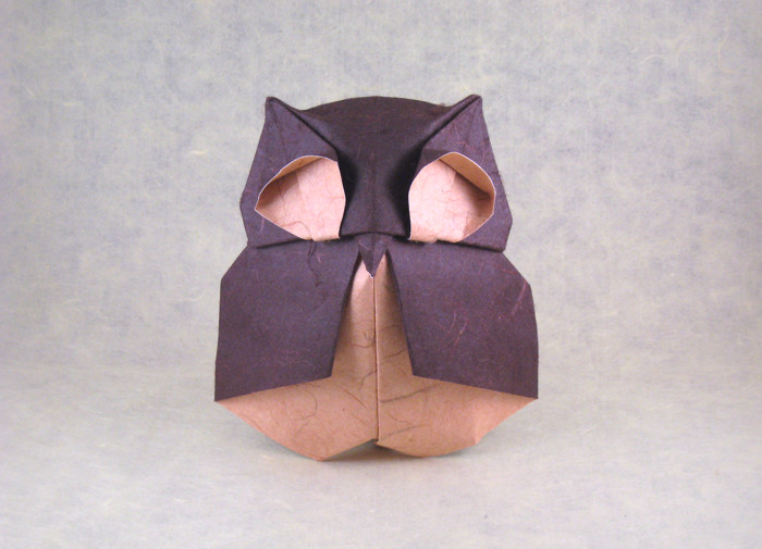 Origami Owl by Federico Scalambra folded by Gilad Aharoni