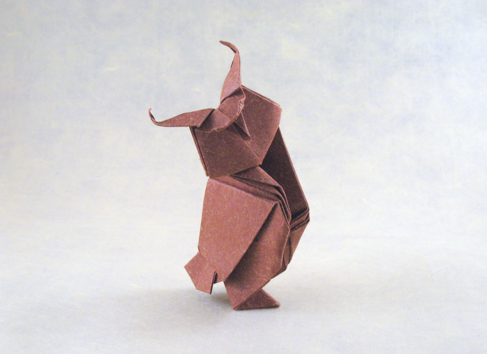 Origami Grand Duke Owl by Gerard Ty Sovann folded by Gilad Aharoni