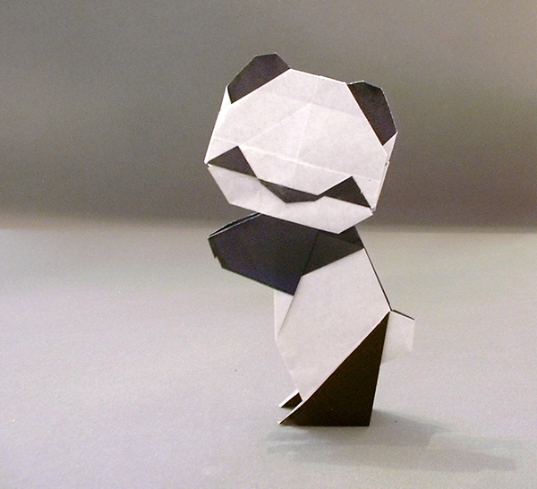 2 Units Origami Panda By Steve Biddle Folded From Squares Of Paper Gilad Aharoni On