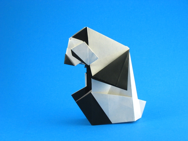 Origami Panda by Watanabe Dai folded by Gilad Aharoni