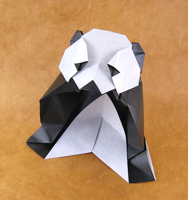 68 Square Origami Panda By Roman Diaz Folded From A Of Paper Gilad Aharoni On