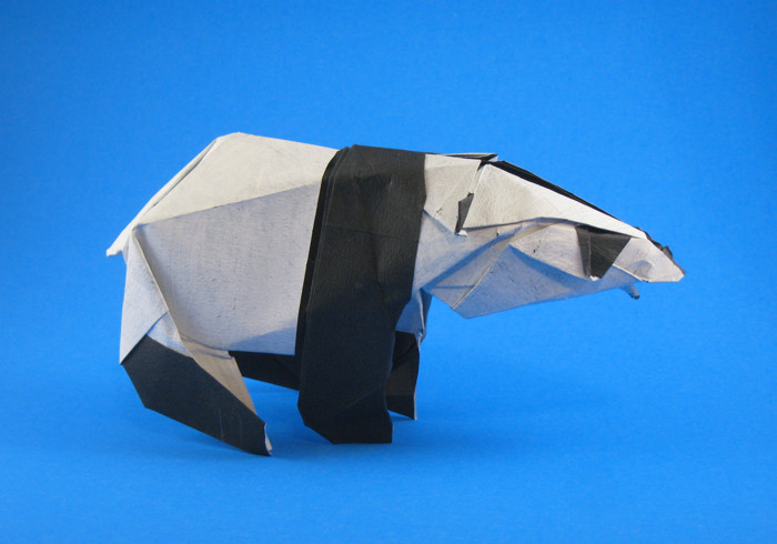 Origami Panda by Fumiaki Kawahata Folded from a square of Tant paper by Gilad Aharoni on giladorigami.com
