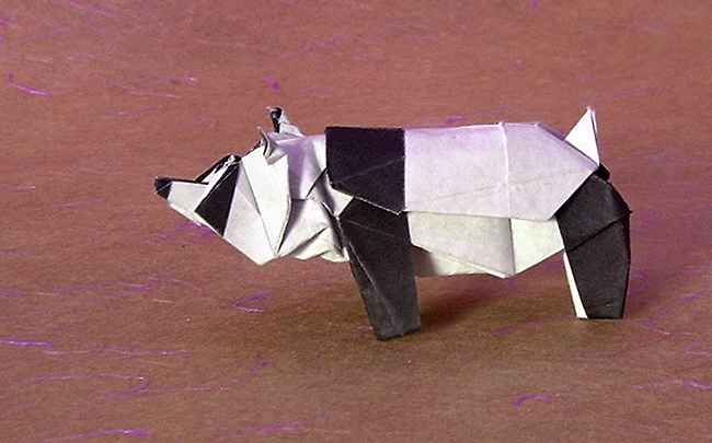 Origami Panda by Ronald Koh folded by Gilad Aharoni
