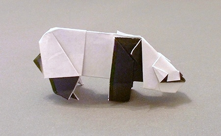 Origami Panda by Robert J. Lang Folded from a square of origami paper by Gilad Aharoni on giladorigami.com