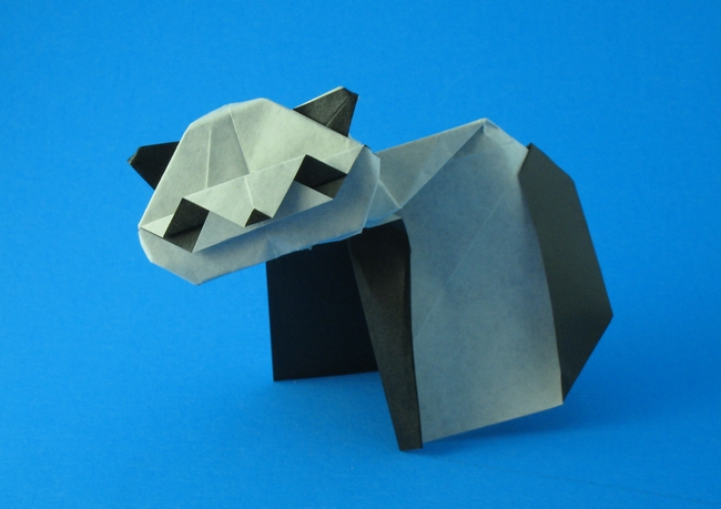 Origami Panda by David Llanque folded by Gilad Aharoni