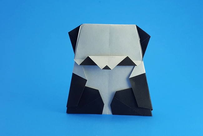 Origami Panda by Marc Kirschenbaum Folded from a square of origami paper by Gilad Aharoni on giladorigami.com
