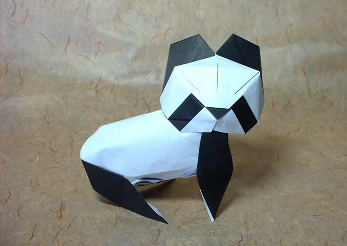 Origami Panda By Yoshihide Momotani Folded Gilad Aharoni