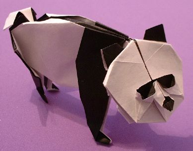 Origami Panda by John Montroll folded by Gilad Aharoni on giladorigami.com