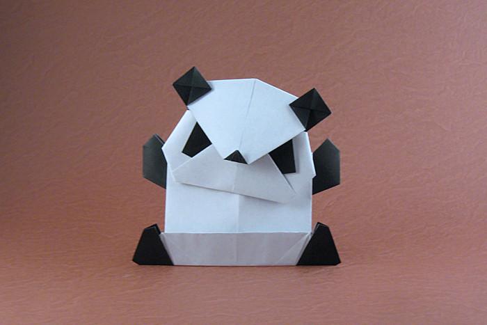 Origami Panda By Niwa Taiko Folded Gilad Aharoni