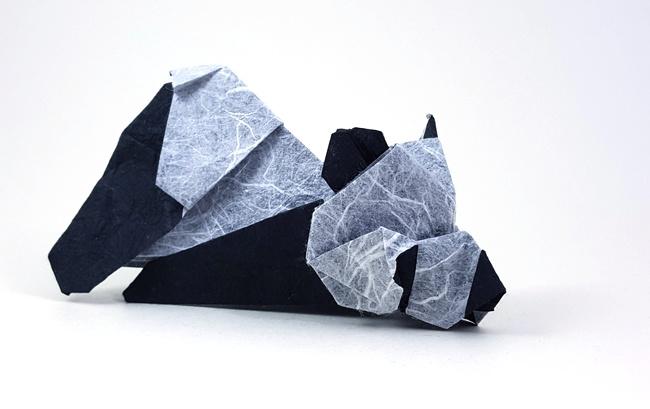 Origami Paper Panda Bear (Oso Panda en papel) Tutorial - Makoto ... | 409x650