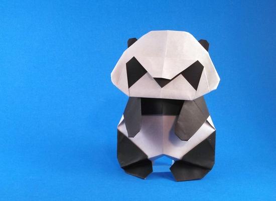 Origami Paper Panda Bear (Oso Panda en papel) Tutorial - Makoto Yamaguchi -  YouTube | 401x550