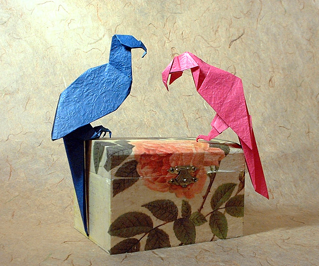 Art Craft Gift Ideas: Origami Parrot Instructions and how to make ...   543x650