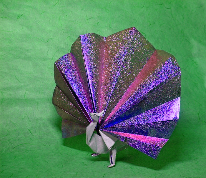 186 Square Origami Peacock By John Montroll Folded Gilad Aharoni On Giladorigami
