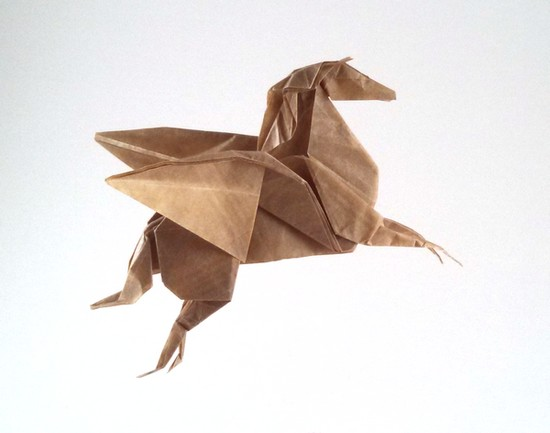 Origami Pegasus by Seishi Kasumi folded by Gilad Aharoni