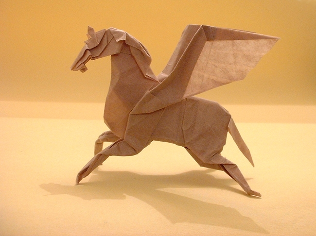 Origami Pegasus by Fumiaki Kawahata folded by Gilad Aharoni on giladorigami.com