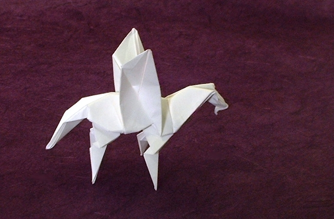 Origami Pegasus By Robert J Lang Folded From A Rectangle Of Paper Gilad
