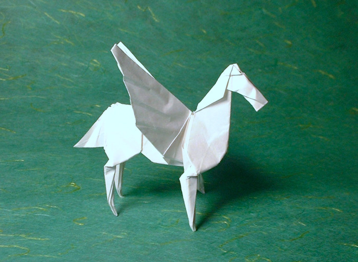 Origami Pegasus by Robert J. Lang folded by Gilad Aharoni on giladorigami.com