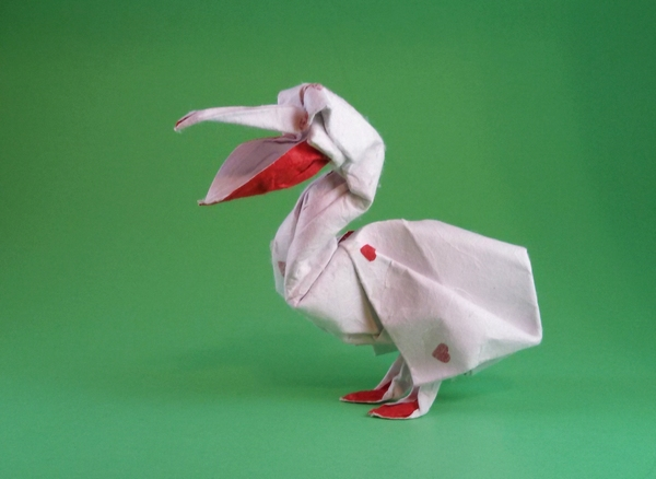 Origami Pelican by Pasquale d'Auria folded by Gilad Aharoni