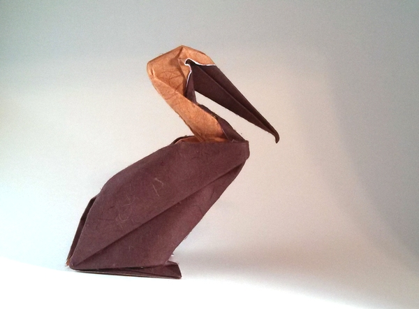 Origami Pelican By Hoang Tien Quyet Folded Gilad Aharoni