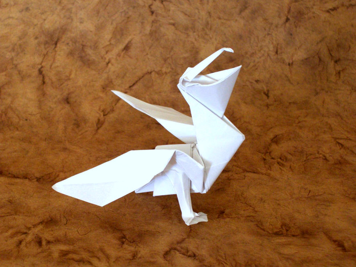 Origami Pelican by Jason Ku Folded from a square of origami paper by Gilad Aharoni on giladorigami.com