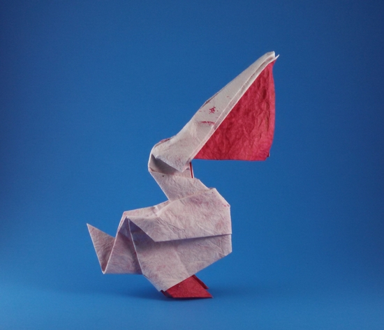 Origami Pelican by Patricio Kunz Tomic folded by Gilad Aharoni on giladorigami.com
