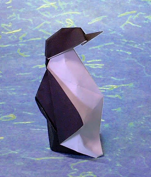 Origami Penguin by Eduardo Clemente folded by Gilad Aharoni