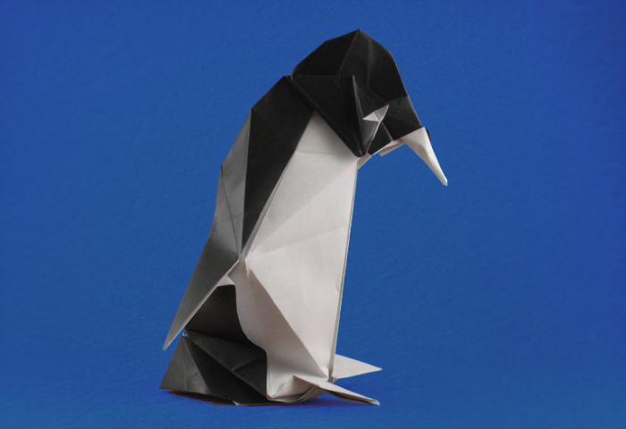 Origami Penguin by Roman Diaz folded by Gilad Aharoni on giladorigami.com