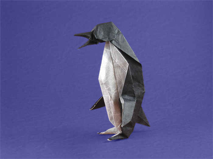Origami Penguin by Peter Engel folded by Gilad Aharoni on giladorigami.com