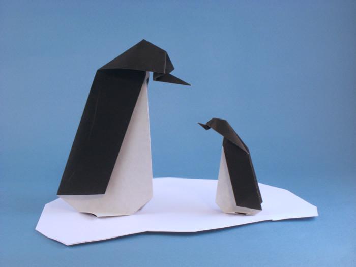 Origami Penguin By Akiko Ishikawa Folded Gilad Aharoni