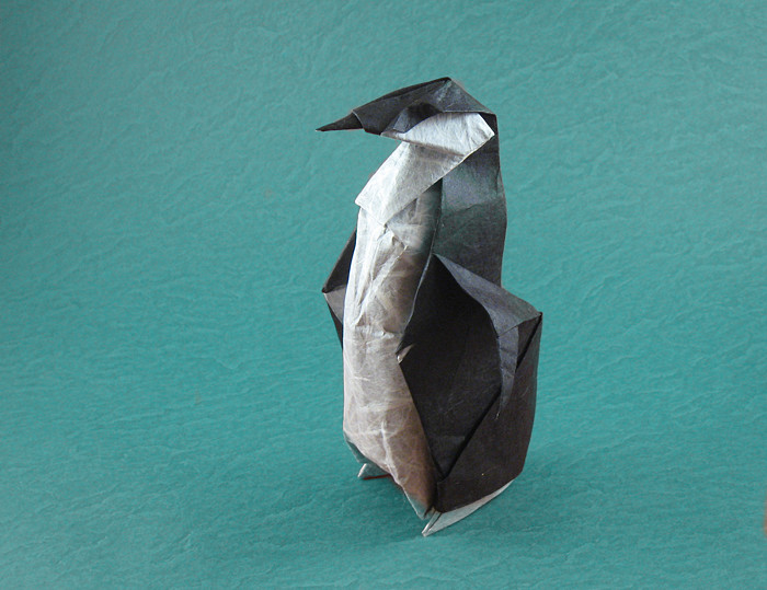 Origami Penguin by Michael G. LaFosse folded by Gilad Aharoni on giladorigami.com
