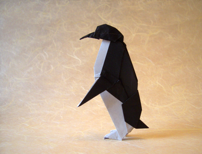 Origami Penguin by John Montroll folded by Gilad Aharoni