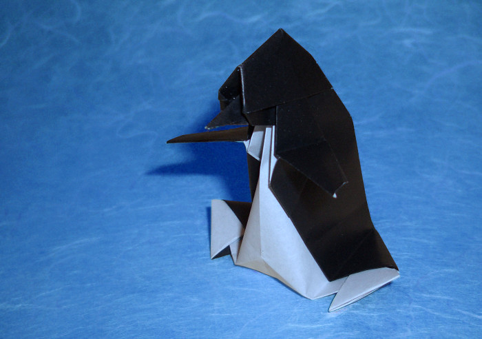 Origami Penguin by Taichiro Hasegawa folded by Gilad Aharoni on giladorigami.com