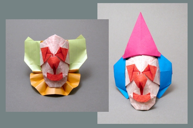 Origami Clown by Seiji Nishikawa folded by Gilad Aharoni on giladorigami.com