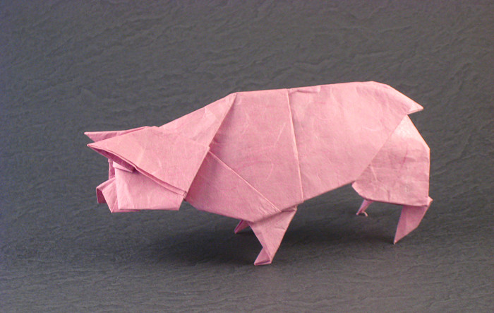 Origami Pig - piggy banknote by Max Hulme folded by Gilad Aharoni on giladorigami.com