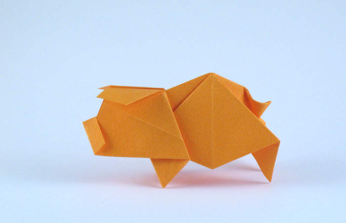 Origami Pig by Hideo Komatsu folded by Gilad Aharoni