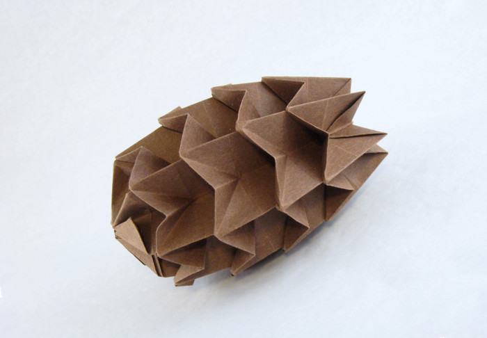 Origami Pine cone by David Petty folded by Gilad Aharoni on giladorigami.com
