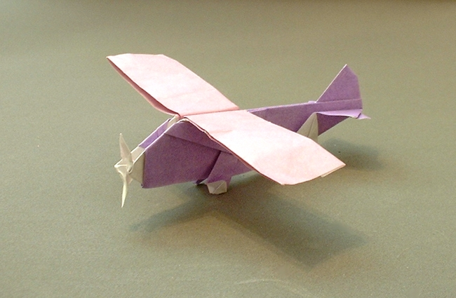 2 Units Origami Propeller Plane By Seiji Nishikawa Folded Gilad Aharoni On Giladorigami