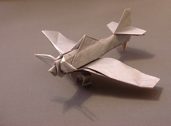 Crease Pattern Origami Propeller Plane By Miyajima Noboru Folded Gilad Aharoni On Giladorigami