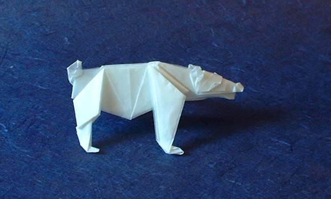 Origami Bear by Christophe Boudias folded by Gilad Aharoni