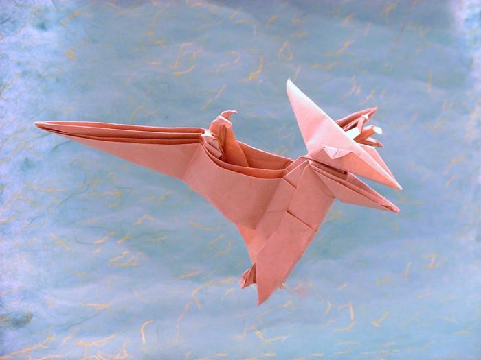 Origami Pteranodon By Fumiaki Kawahata Folded Gilad Aharoni