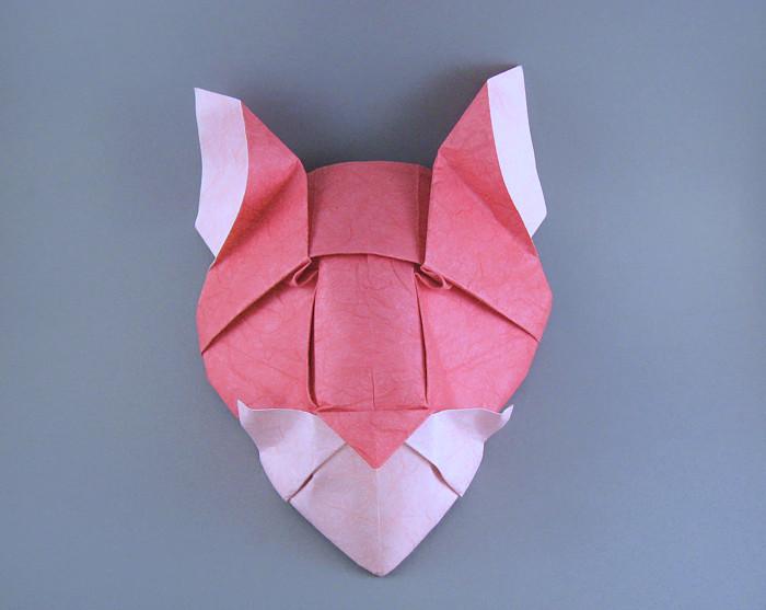 Origami Pumas Head By Roman Diaz Folded Gilad Aharoni