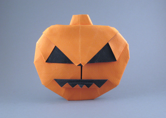 Origami Jack-O-lantern by Anita F. Barbour folded by Gilad Aharoni