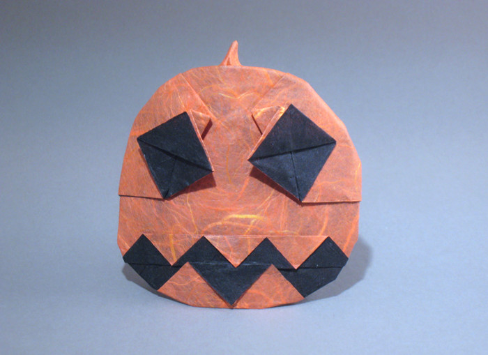 Origami Jack-O-lantern by Andrew Hudson folded by Gilad Aharoni on giladorigami.com