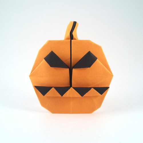 Origami Jack-O-lantern by Edwin Steele folded by Gilad Aharoni
