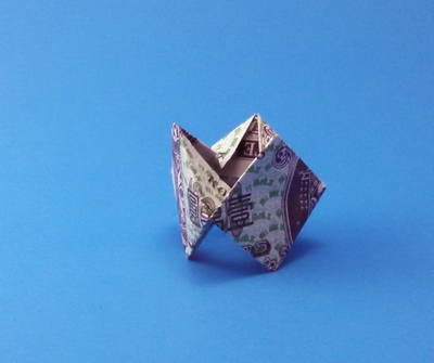 Origami Punk rocker ring by Cindy Ng folded by Gilad Aharoni